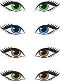 ögon stock illustrationer