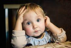 Ögon av barnet royaltyfri foto