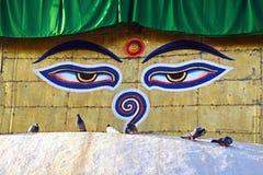 Ögon av Buddha Arkivbilder