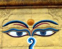 Ögon av Buddha Royaltyfri Fotografi