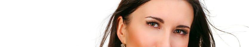 Ögon av den härliga kvinnan Royaltyfria Foton