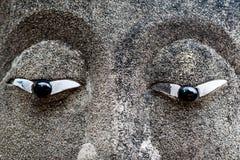 Ögon av det buddha statyslutet upp Royaltyfri Fotografi