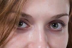 Ögon av en flicka Arkivbilder
