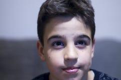Ögon av en pojke royaltyfri bild