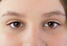 Ögon av en ung flicka royaltyfri fotografi