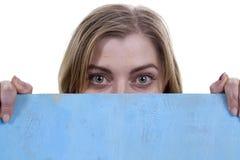 Ögon av ett kvinnaslut upp royaltyfria foton