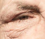 Ögon av gamala mannen Närbild Royaltyfri Fotografi