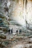 Ögon av guden, Prohodna grotta, Bulgarien arkivfoto