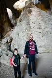 Ögon av guden, Prohodna grotta, Bulgarien royaltyfria foton