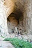 Ögon av guden, Prohodna grotta, Bulgarien royaltyfri bild