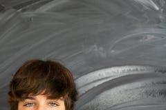 Ögon av tonåringpojken Fotografering för Bildbyråer
