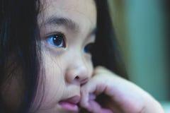Ögon blåtiror, slut synar upp Arkivbilder