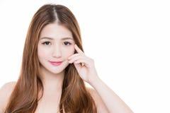 Ögon för skönhetkvinnahandlag arkivfoton