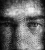 Ögon för starka män royaltyfri bild