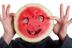 ögon helloween den mänskliga maskeringsvattenmelonen Arkivfoton