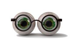 Ögon med exponeringsglas Fotografering för Bildbyråer