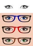 Ögon som isoleras på vit bakgrund royaltyfri illustrationer