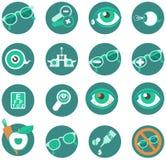 Ögon- symboler stock illustrationer