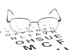 Ögon testar med exponeringsglas royaltyfria foton
