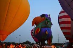 Ögon till himmelfestivalen - Ballon Glow17 fotografering för bildbyråer