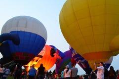 Ögon till himmelfestivalen - Ballon Glow14 arkivbilder