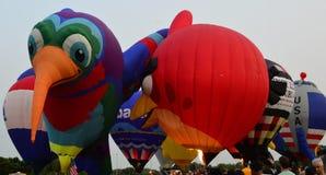 Ögon till himmelfestivalen - Ballon Glow1 fotografering för bildbyråer