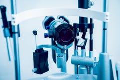 Ögon- utrustning läkarundersökning Royaltyfria Foton