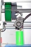 Ögonblick av tredimensionell printing Arkivfoto