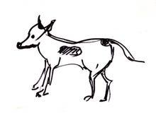 Ögonblicken skissar, hunden vektor illustrationer