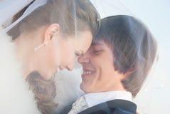 Ögonblicket av lyckabröllopsresa Arkivfoton