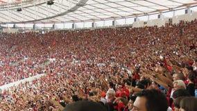 Ögonblicket av målet, Maracana stadion, Rio de Janeiro lager videofilmer