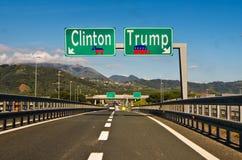 Ögonblicket av valet, Clinton ottrumf Royaltyfri Foto
