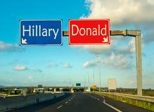 Ögonblicket av valet, Clinton ottrumf Arkivbild