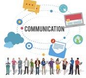 Ögonblicklig Messaging för kommunikation som pratar talande begrepp Arkivfoto
