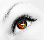 ögonbrand arkivbilder