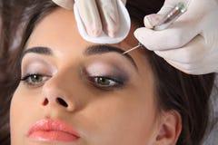 Ögonbrynförlängning Fotografering för Bildbyråer