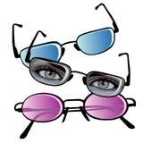 ögonexponeringsglas Arkivbild