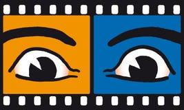 ögonfilmvektor stock illustrationer