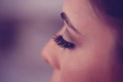Ögonfrans av en kvinna Arkivbilder