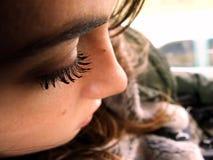 ögonfranskvinnlig Royaltyfri Foto