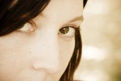 ögonkvinna Fotografering för Bildbyråer