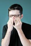 ögonmangnidning Fotografering för Bildbyråer