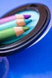 Ögonskuggafärger och eyeliners, skönhetsmedel Arkivbild