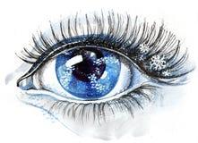 ögonsnowflakes Arkivbild