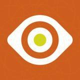 ögonsymbolsvektor royaltyfri illustrationer
