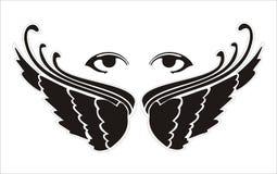 ögonvingar Arkivfoton