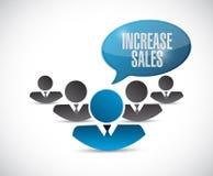 öka begreppet för försäljningsteamworktecknet Royaltyfri Bild