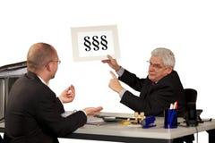 öka chefen som vägrar lön Royaltyfri Bild