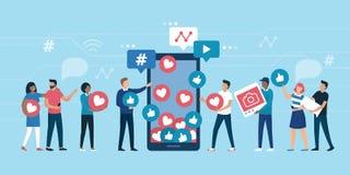 Öka dina sociala massmediaanhängare stock illustrationer
