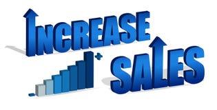 öka försäljningar Arkivbild